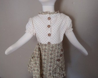 Bohemian style blouse and skirt