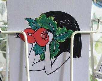 Radijsmeis/Radish binoculairs Postcard