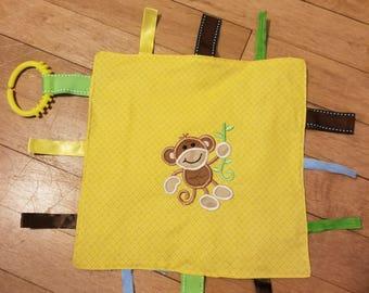 Monkey Crinkle Tag Toy
