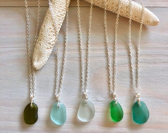 Dainty Sea Glass Necklace - Beach Glass Necklace - Sea Glass Jewelry - Sea Glass Pendant - Mermaid Jewelry - Mini Seaglass Necklace