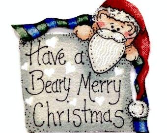 MAGNET, Have a Beary Merry Christmas, Merry Christmas, Christmas Magnet, Unique gift, Christmas, Happy Holidays, Seasonal Decor, Bears, Joy
