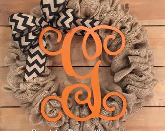 Halloween Wreath | Fall Wreath | Burlap Wreath | Front Door Wreath |  Rustic Wreath