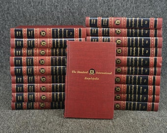 Vintage Full 20-Volume Set The Standard International Encyclopedia C. 1956