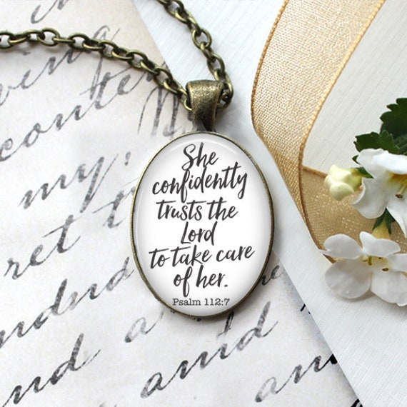 Scripture Verse Pendant with 18 or 24 inch chain -Beautiful Gift for Women