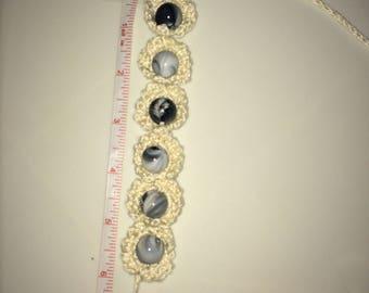 Crochet Beaded Bracelet