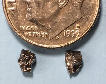 TINY Meteorite Studs, Womens Studs, Mens Earrings, Raw Stone Studs, Trekkie Gift, Extraterrestrial GEEK Jewelry, TINY Studs, Outer Space