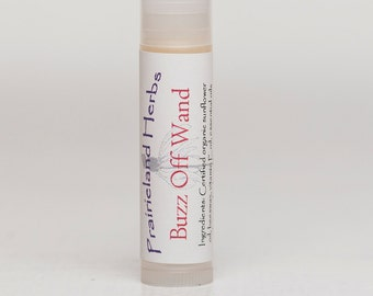 Buzz Off Wand - handmade natural essential oil bug repellant stick wand balm