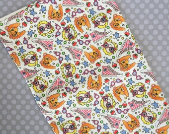 Looney Love Fabric- Kawaii Fat Quarter, Spoonflower, Basic Ultra Cotton, Eco Friendly Textiles, Hello Quirky, Book Inspired