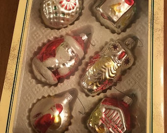 Box Of 6 Hand Decorated Ornaments