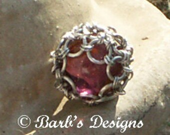 Large Chainmaille Ball With Captive Marble This Is A One Of A Kind Piece Coud Be A Keychain Pendant Or Sun Catcher Anything You Imagine