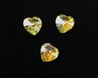 5742 Swarovski® 14mm Heart Bead - Crystal AB