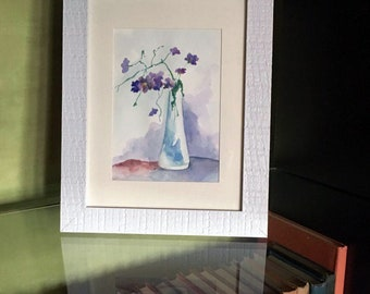 Interior watercolor «Flowers»