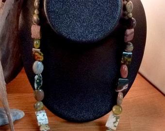 Turquoise Necklace Jasper Necklace