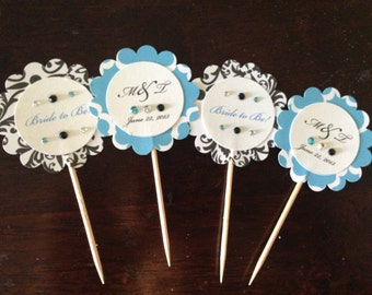 Breakfast at Tiffany's Cupcake Toppers