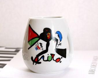 Vintage Joan Miró coffee mug, abstract art tea cup