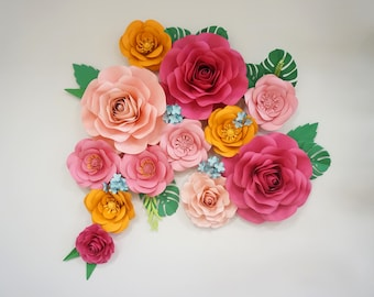 Extra large Paper Flower Backdrop - Flower Wall - Birthday Party Decor - Paper Flowers - Paper flowers Backdrop - Wedding Backdrop - Paper