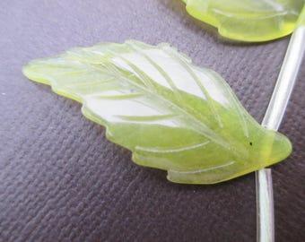 Olive or serpentine jade: 1 sheet of 38 mm bead