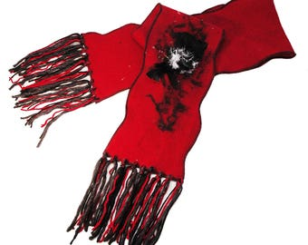Long scarf, woman scarf, fall and winter scarf, wool scarf, red scarf