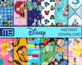 Disney digital paper pack - printable papers - Instant download -.We have a lot of Disney,s digital papers.Please look them.