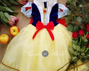 Snow White Costume Dress, Halloween Costume, Girl's Birthday Dress