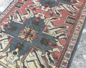 """Trending Rug !!! Pastel Color Oushak Rug,Turkish Rug,Vintage Rug,Boho Rug,Oushak Rug,İnterior  and Designer Rugs,Pale color rugs,4"""" x6"""" feet"""