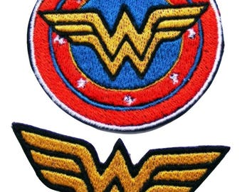 Wonder Woman Patch Embroidered Iron On Patches Bag Jeans Embroidery Jacket Fancy Badge Applique