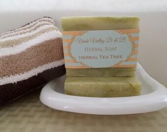 Herbal Tea Tree Soap, Tea Tree Soap, Tea Tree Soap Bar, Tea Tree Bath Soap, Handmade Soap, Herbal Soap, Natural Soap, Vegan Soap