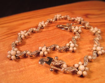 Delicate Sterling Silver Mother of Pearl Bracelet