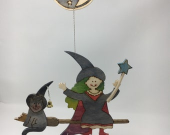 Witch and Moon Wall Hanging