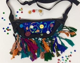 Festival Fun Button Tassel Fanny Pack