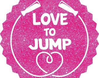 Love To Jump Rope Iron On Decal