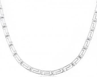 Greek Design Necklace with Meander Pattern
