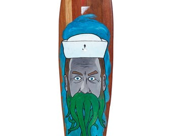 Hand-Painted Longboard