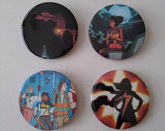 Ms. Marvel Button Set
