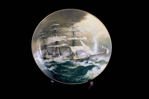 1981 Collectible Plate, Nightingale, The Great Clipper Ships Collection, Limited Edition, Decorative Plate, Wall Decor, Franklin Mint
