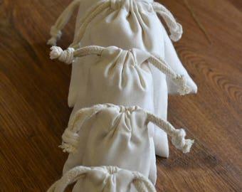 Cotton Muslin Natural Drawstring Bag. Thick Drawstring. High Quality Bags. Premium Quality. 2 x 3 Inches