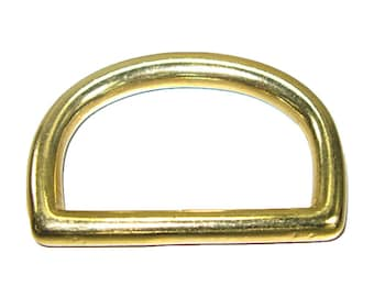 """2"""" Solid Brass D-Ring (50mm)"""