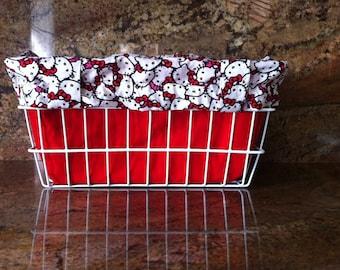 Hello Kitty Reversible Bicycle Basket Liner Tote Bag