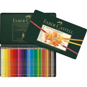 36 Faber Castell Polychromos Colored Pencils   Colored Pencil Set   Coloring Pencils Tin   Imported from Germany