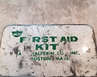 Vintage A Halpern Inc. BOSTON mass first aid kit