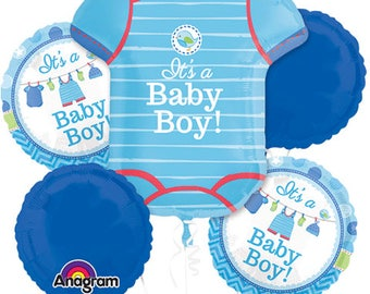 Its a Boy Balloon Package Blue Gold White Balloons Baby Boy Shower New Baby Boy Balloon Decorations