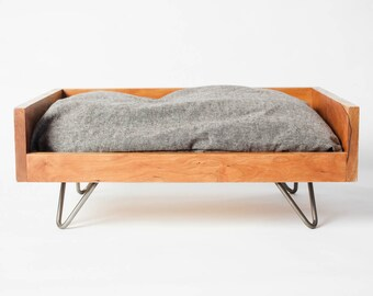 Hand-Crafted Dog Bed   Mid-Century Dog Furniture   Forever Dog Bed   Minimalist Dog Bed   Pet Furniture   Cherry Dog Bed   Pillow Pet Bed