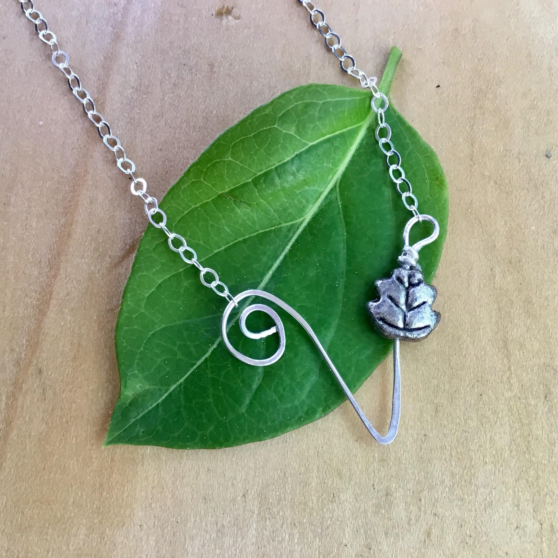Vegan Symbol Necklace Sterling Silver Vegan Necklace Vegan