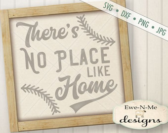 No Place Like Home svg - Baseball SVG - Softball SVG - Home Plate svg - baseball stitches svg - Commercial Use svg, dxf, png, jpg files