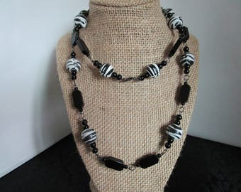 Assorted Black Beaded Necklace Necklace