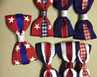 7 Patriotic collar bows