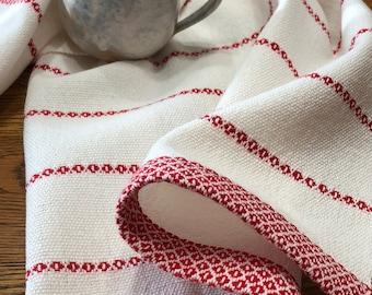 Gourmet Chef's Towel, GOTS Certified Organic Yarn, Hand Woven Guest Towel, Tea Towel, Handwoven Dish Towel, Artisan Hand Woven, Dish Towel