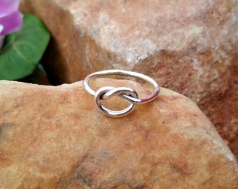 Sterling Silver Knot Ring - Sterling Silver Ring - Handmade Ring - Beautiful Silver Ring