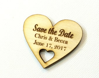 Save the date small wood wedding save the date magnets