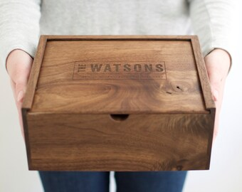 Keepsake Box, Baby Keepsake Box, Wooden Box, Wedding Card Box, Gift for Men, Anniversary Gift, Engraved Quote,Father's Day Gift,Father's Day